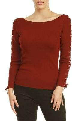 Dex Lace-Up Long Sleeve Sweater