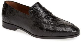 Mezlan Soli Genuine Crocodile Leather Loafer $795 thestylecure.com