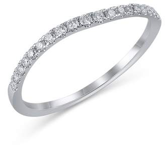 Bony Levy 18K White Gold Diamond Detail Wavy Ring - 0.17 ctw