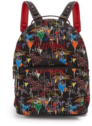 Christian Louboutin Loubitag Printed Backpack - Mens - Black
