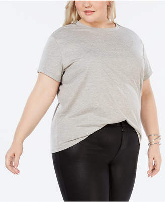 Say What Trendy Plus Size Studded T-Shirt