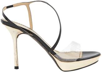 John Galliano Gold Leather Sandals