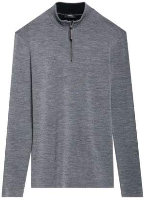 Theory Milos Quarter Zip Wool Sweater