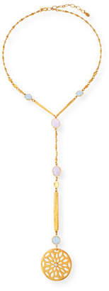 Sequin Faceted Crystal Y-Drop Necklace M1yr14bK5