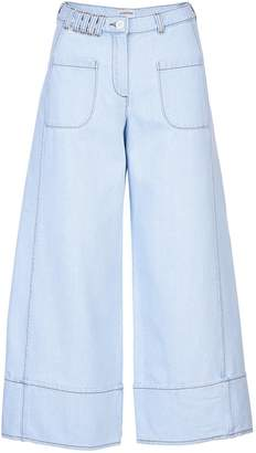 Acephala Denim Cropped Trousers