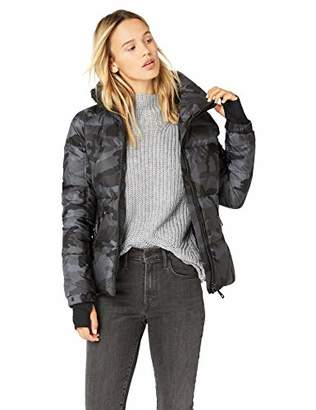 SAM. Women's Camo Freestyle Shaped Down Puffer Jacket, Charcoal, Extra