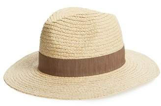 Sole Society Wide Brim Raffia Hat