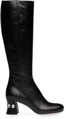 Miu Miu crystal embellished heel boots