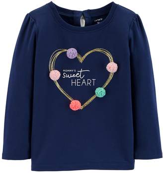 Carter's Baby Girl Bow Back Graphic Tee