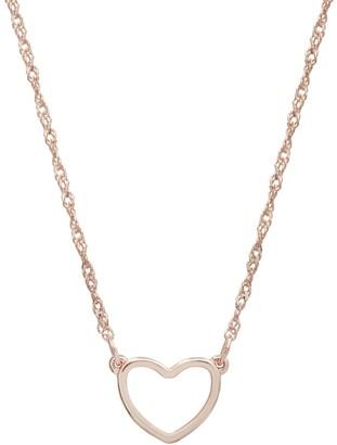 Lauren Conrad Rose Gold Tone Heart Necklace