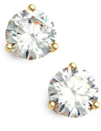 Women's Nordstrom Precious Metal Plated 2Ct Tw Cubic Zirconia Earrings
