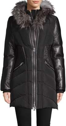 Nicole Benisti Courchevel Fox Fur-Trimmed Down Jacket