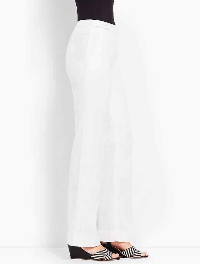 Talbots Windsor Linen Wide-Leg Pant - Lined