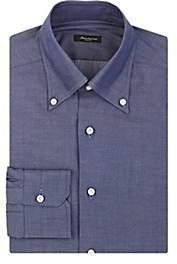 Sartorio Men's Cotton Chambray Button-Down Dress Shirt-Dk. Blue