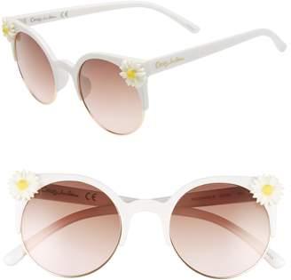 Sam Edelman 50mm Daisy Accent Round Sunglasses