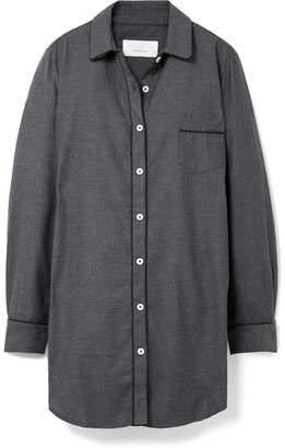 Three J NYC Grace Cotton-flannel Nightdress - Charcoal