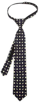 Star Wars Cufflinks  Battle Ships Boys' Zipper Silk Tie, Officially Licensed