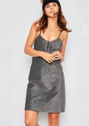 8d2aadb572569 Missy Empire Missyempire Valarie Silver Glitter Mini Slip Dress