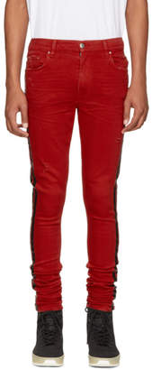 Amiri Red Stack Track Jeans
