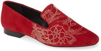Karl Lagerfeld Paris Nova Floral Studded Loafer