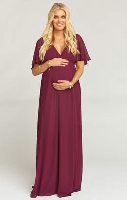 Show Me Your Mumu Emily Maxi Dress ~ Merlot Chiffon