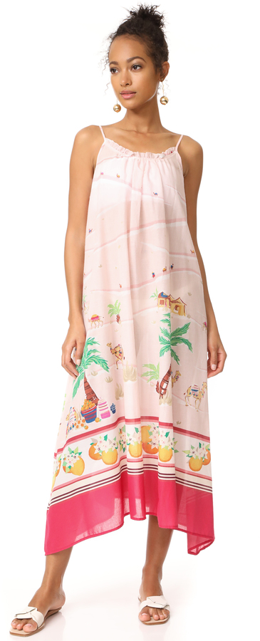 Kate Spade New York Orangerie Cover Up Maxi Dress
