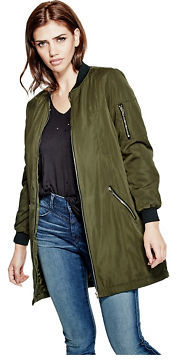 GByGUESS G By Guess Women's Kreso Longline Bomber Jacket $64.99 thestylecure.com