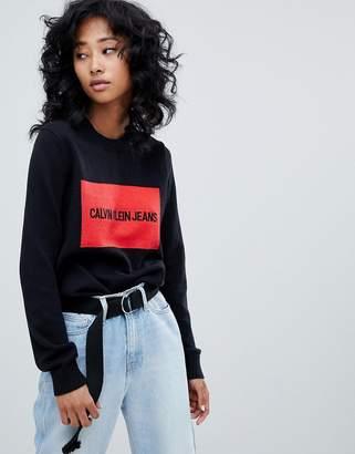 Calvin Klein Jeans logo knitwear