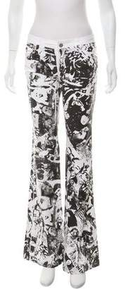 Dolce & Gabbana Graphic Print Low-Rise Jeans