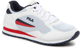 Fila Post Runner Sneaker -White/Red - Women's