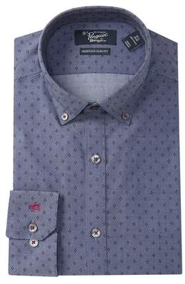 Original Penguin Diamond Pattern Heritage Slim Fit Dress Shirt