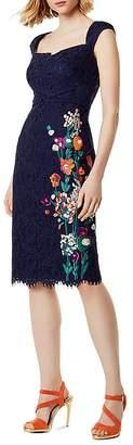 Karen Millen Embroidered Lace Sheath Dress