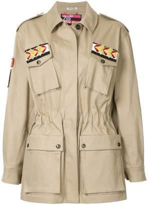 Miu Miu embellished military jacket