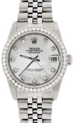 Rolex Datejust Mother Of Pearl Diamond Dial & Bezel Automatic Jubilee Watch
