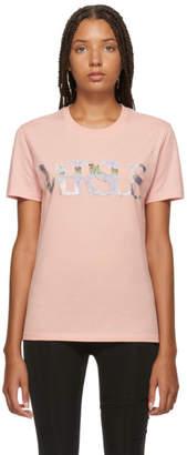 Versus Pink Metallic Logo T-Shirt