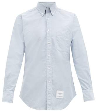 Thom Browne Slim Fit Cotton Oxford Shirt - Mens - Light Blue