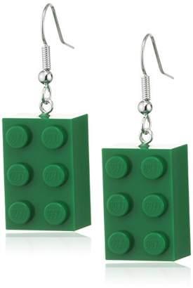 Lego Schmuckzeug Women's 2x3 Green Earrings