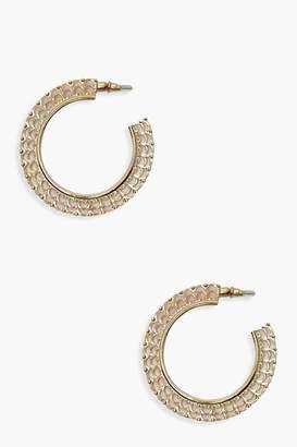 boohoo Boho Filigree Gold Hoop Earrings