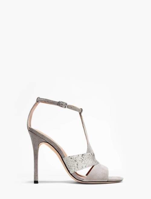 Halston Connie Combined Leather High Heel Sandal