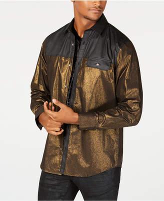 INC International Concepts I.n.c. Men's Colorblocked Metallic Shirt