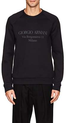 Giorgio Armani Men's Logo Cotton-Blend Neoprene Sweatshirt