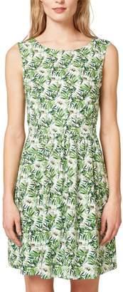 Esprit Printed Open Back Dress