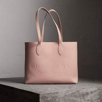 Burberry Embossed Leather Tote