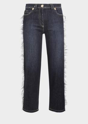 Versace Cropped Medusa Jeans