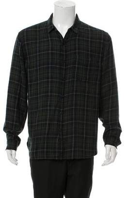 Edun Plaid Button-Up Shirt