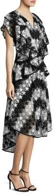 Romance Was Born Constellation Star Lace High-Low Dress