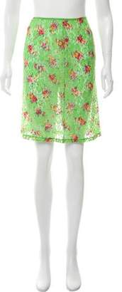 Dolce & Gabbana Floral Printed Net Skirt
