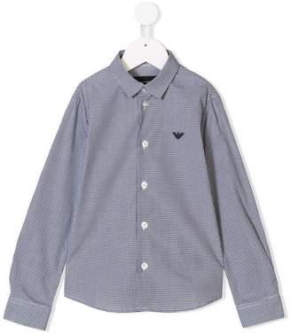 Emporio Armani Kids long-sleeve check shirt