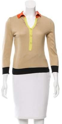 Philosophy di Alberta Ferretti Colorblock Pullover Sweater