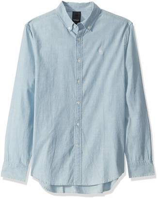 G Star Men's Chambray Core Long Sleeve Button Down Shirt